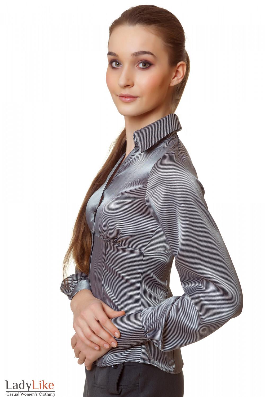 Купить блузку в черную полоску Деловая женская одежда