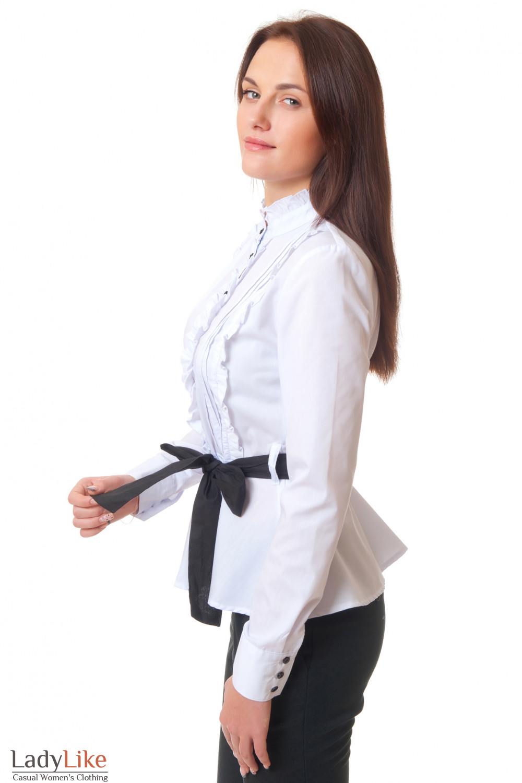 Блузка На Высокой Стойкой