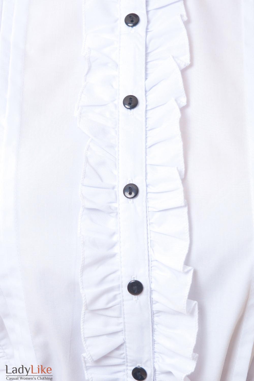 Блузка с рюшами Деловая женская одежда