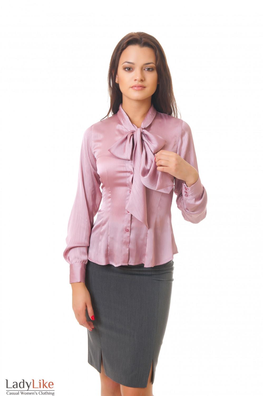 Купить розовую блузку Деловая женская одежда