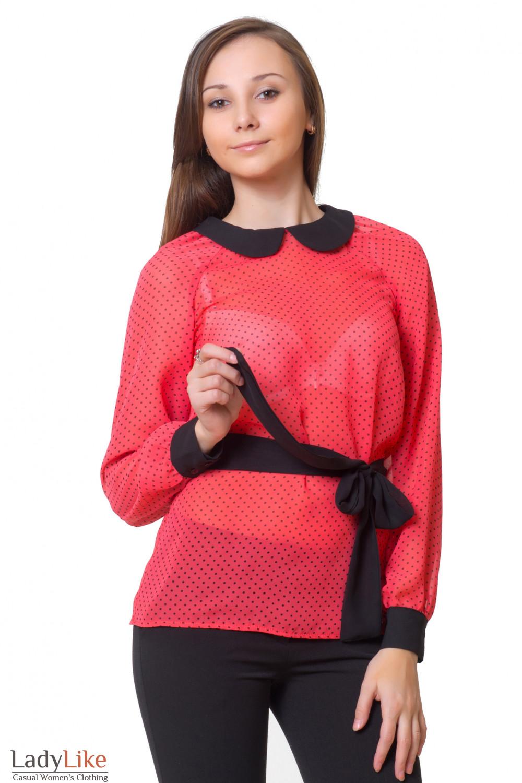 Купить блузку из тонкого шифона Деловая женская одежда