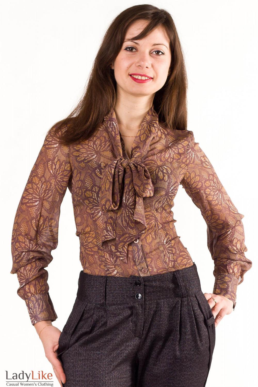 Блузка с бантом доставка