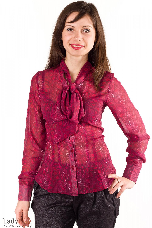 Блузки с бантом купить