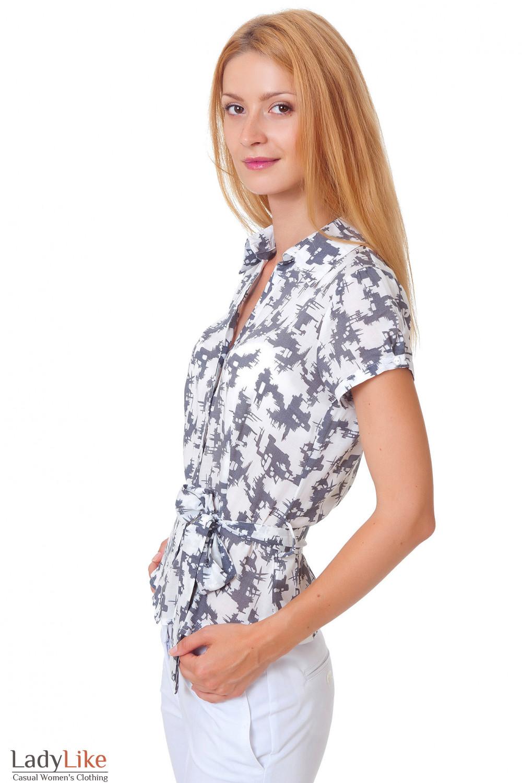 Купить блузку с коротким рукавом Деловая женская одежда