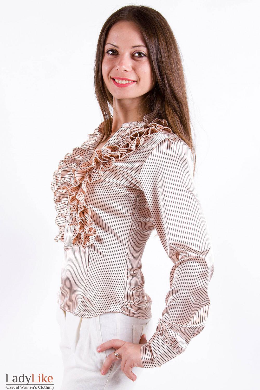 Фото Блузка в полоску Деловая женская одежда