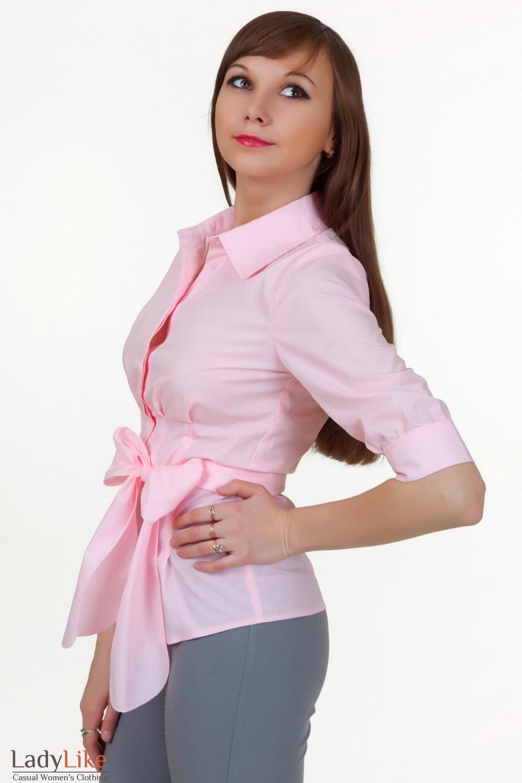 Блузка С Поясом На Бедрах
