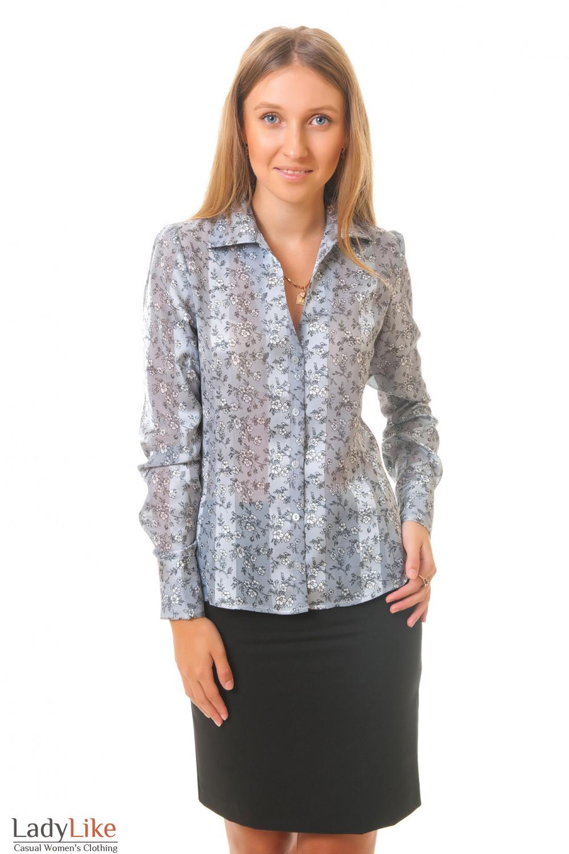 Купить серую блузку Деловая женская одежда