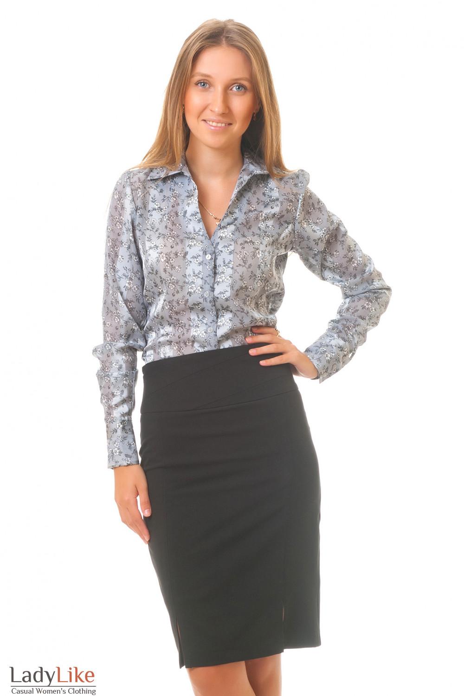 Купить юбку с серой блузкой Деловая женская одежда