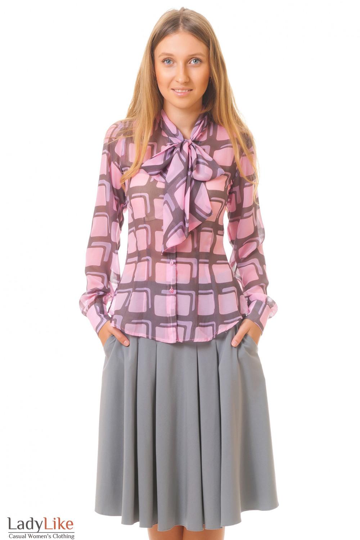 Купить блузку из шифона Деловая женская одежда