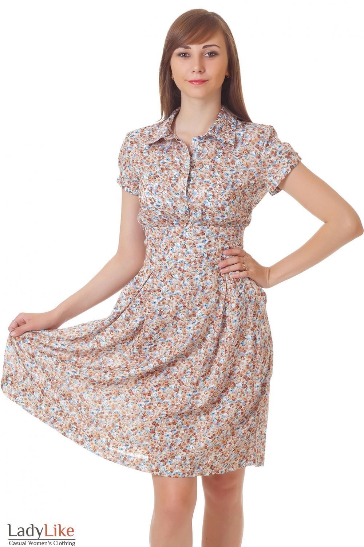 Купить летнюю блузку в мелкий цветочек Деловая женская одежда