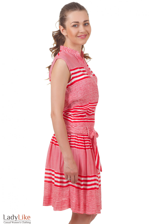 Купить летнюю блузку в красную полоску Деловая женская одежда