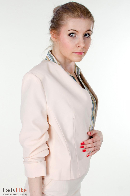 Купить болеро кремовое Деловая женская одежда