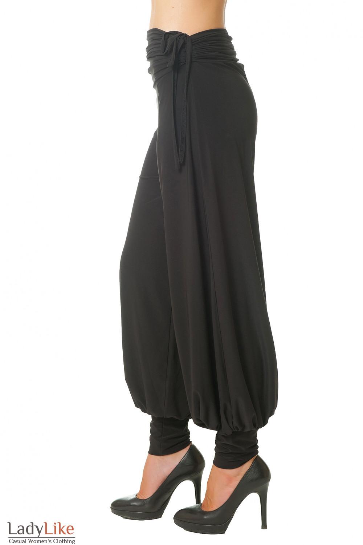 Купить трикотажные черные брюки Деловая женская одежда