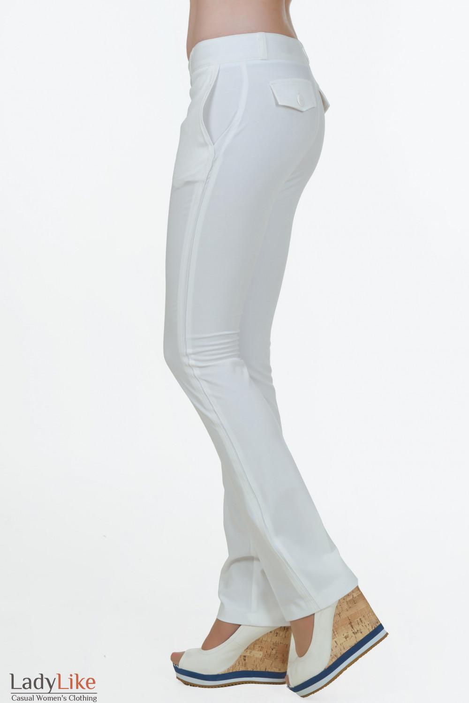 Брюки классические белые Деловая женская одежда