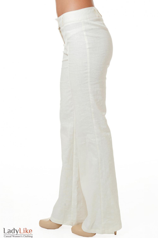 Купить белые льняные брюки Деловая женская одежда