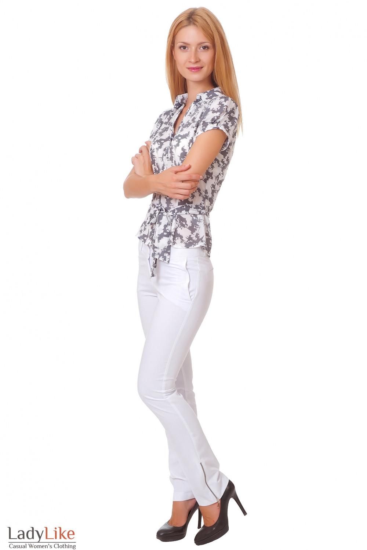 Купить укороченные брюки Деловая женская одежда
