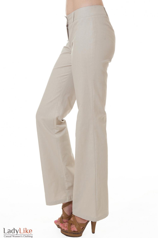 Купить льняные бежевые брюки Деловая женская одежда