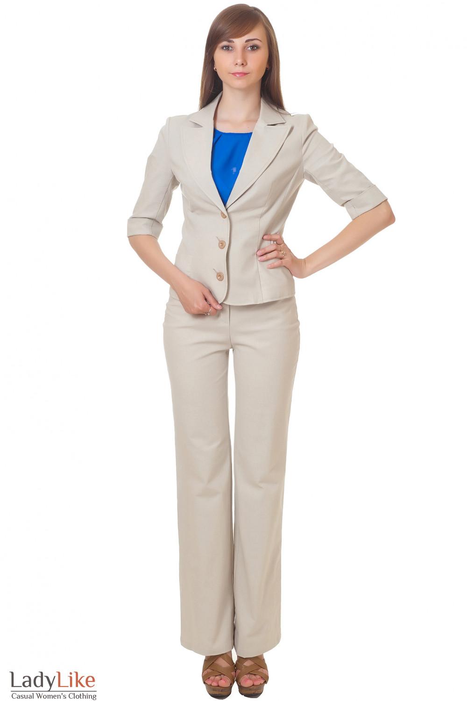 Купить льняной костюм Деловая женская одежда