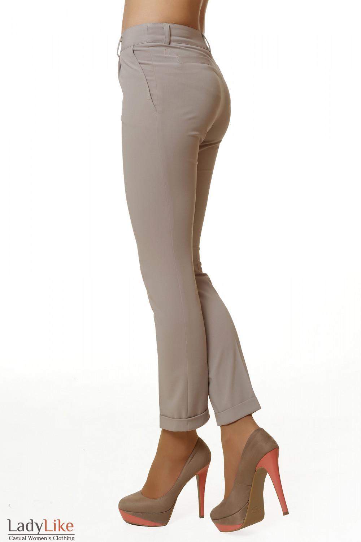 Купить брюки бежевые укороченные Деловая женская одежда