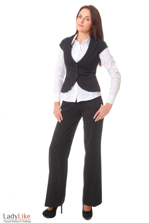 Купить теплые брюки и жилетку Деловая женская одежда