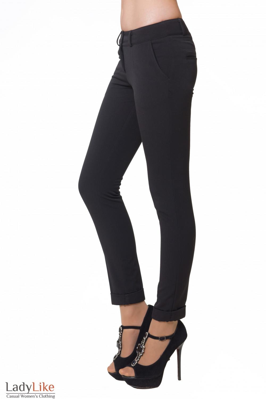 Купить теплые облегающие брюки Деловая женская одежда