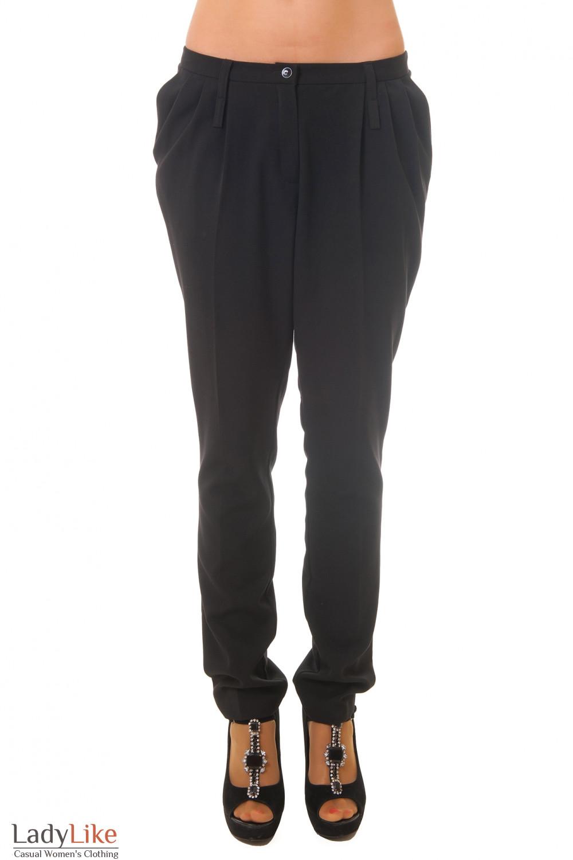 Брюки галифе черные Деловая женская одежда