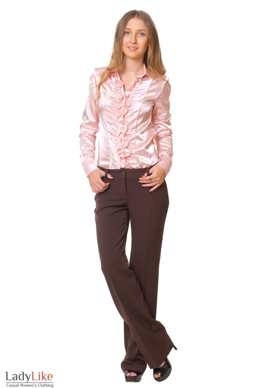 Купить классические коричневые женские брюки