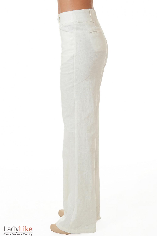 Купить белые брюки с завышенной талией Деловая женская одежда