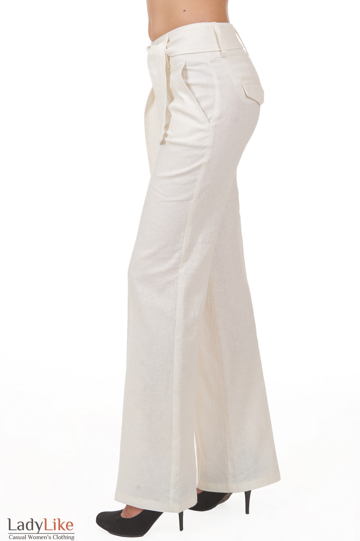 Купить льняные брюки Деловая женская одежда