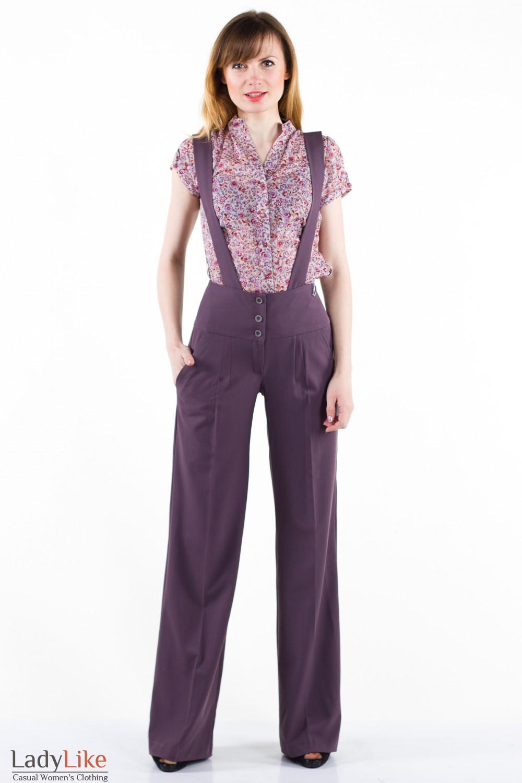 Фото Брюки клешные Деловая женская одежда