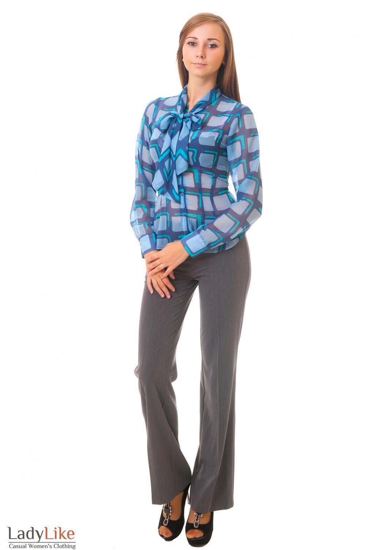 Купить блузку с серыми брюками Деловая женская одежда