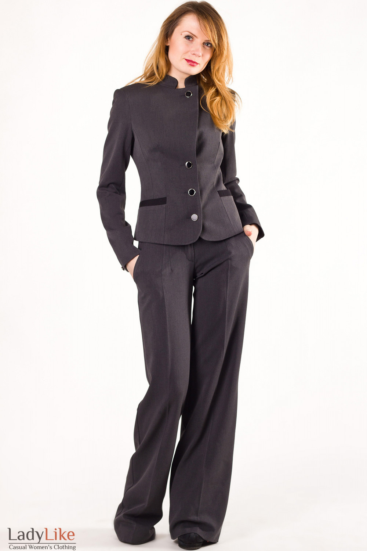 Фото Брюки серые Деловая женская одежда