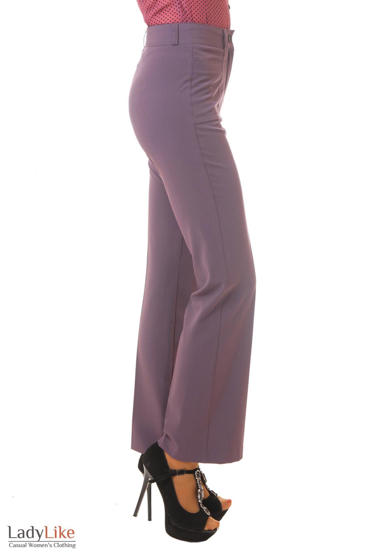Купить сиреневые брюки Деловая женская одежда
