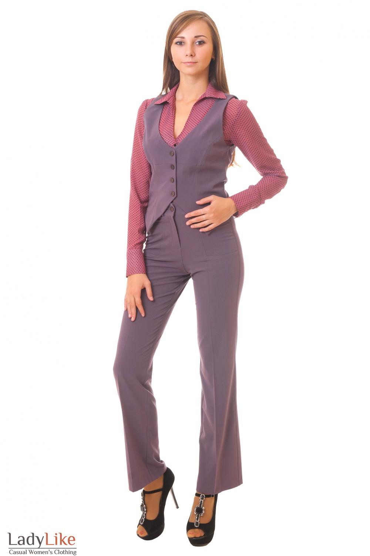 Купить жилетку с брюкими Деловая женская одежда