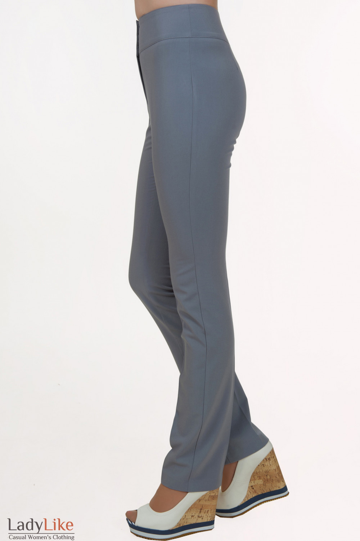 Серые брюки классические Деловая женская одежда