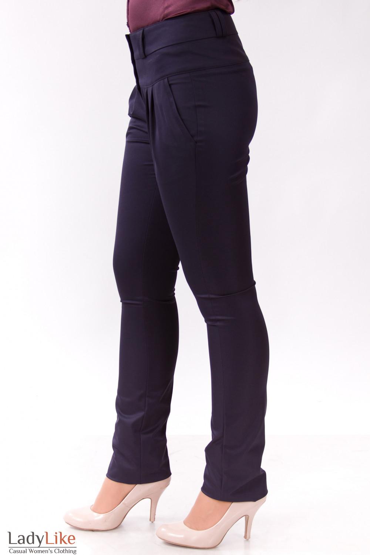 Фото Брюки с защипами Деловая женская одежда