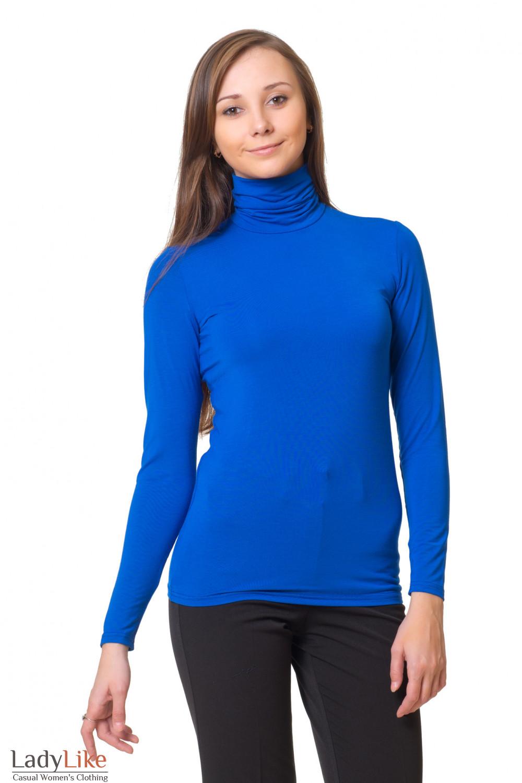 Гольф классический синий Деловая женская одежда