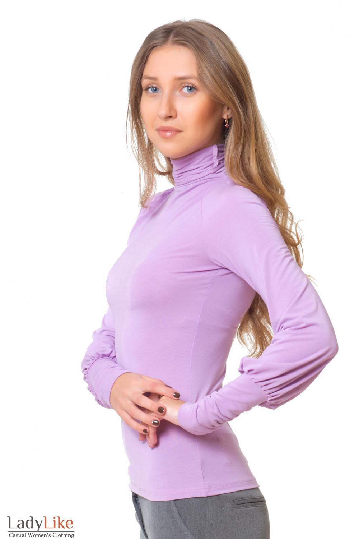 Купить трикотажный сиреневый гольф Деловая женская одежда