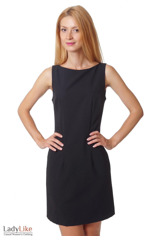 Купить черное платье-футляр Деловая женская одежда