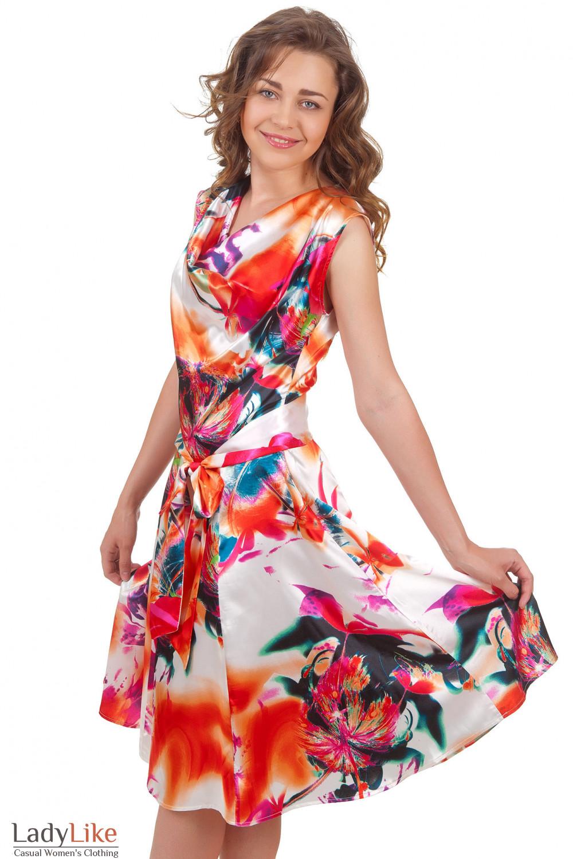 Купить атласное платье Деловая женская одежда