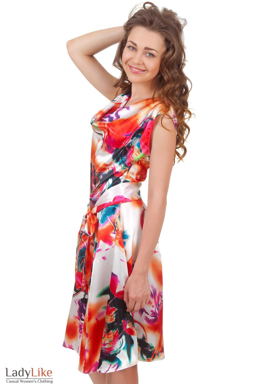 Купить нарядное атласное платье Деловая женская одежда