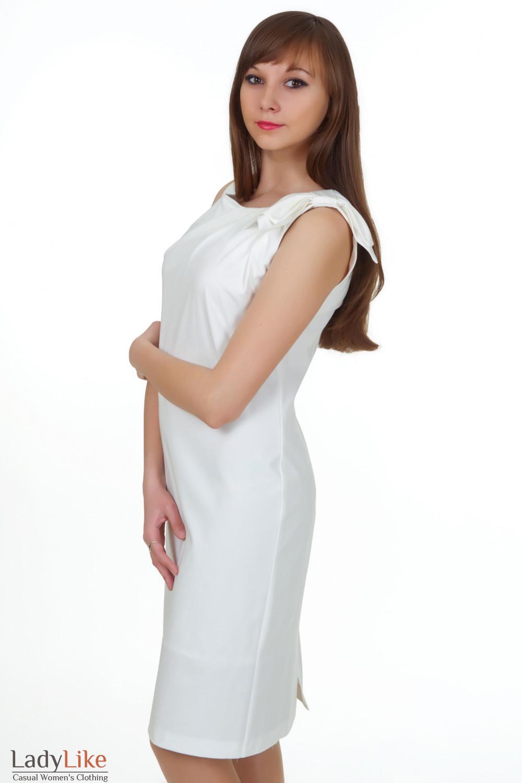 Купить белое платье Деловая женская одежда
