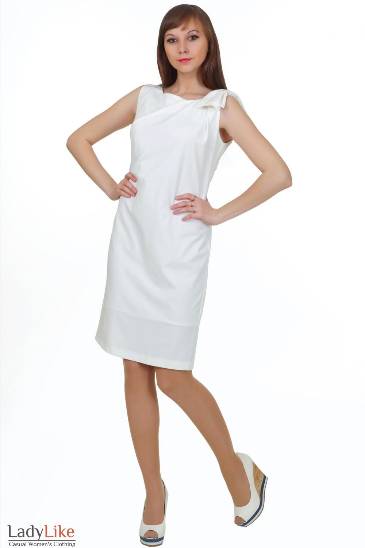 Вечернее белое платье Деловая женская одежда