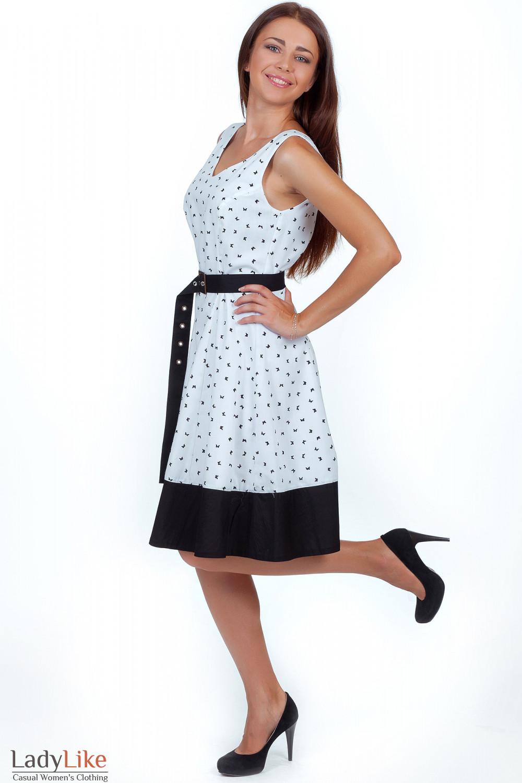 Купить платье белое в бабочки Деловая женская одежда