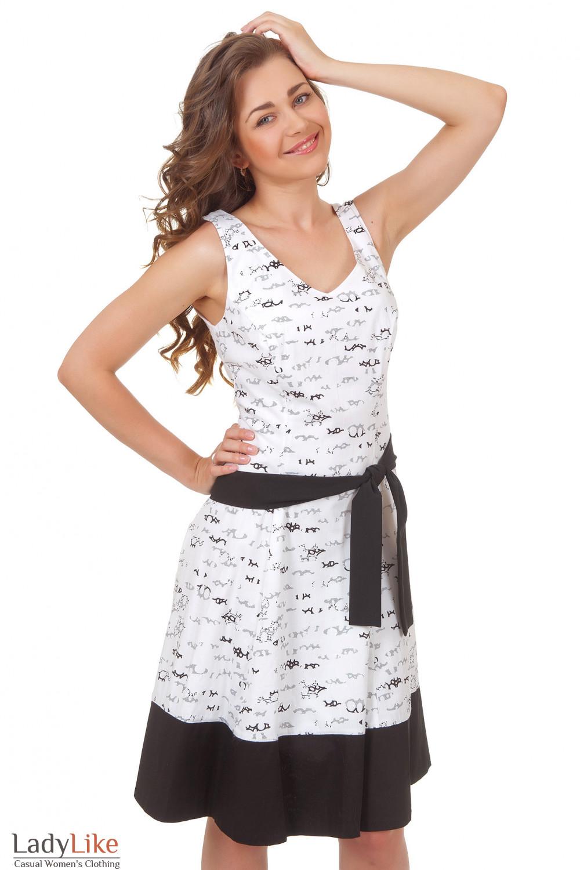 Купить белое платье с пышной юбкой Деловая женская одежда