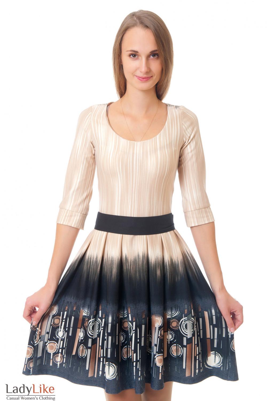 Платье с поясом Деловая женская одежда