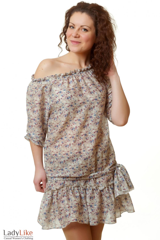 Купить платье с открытыми плечами Деловая женская одежда