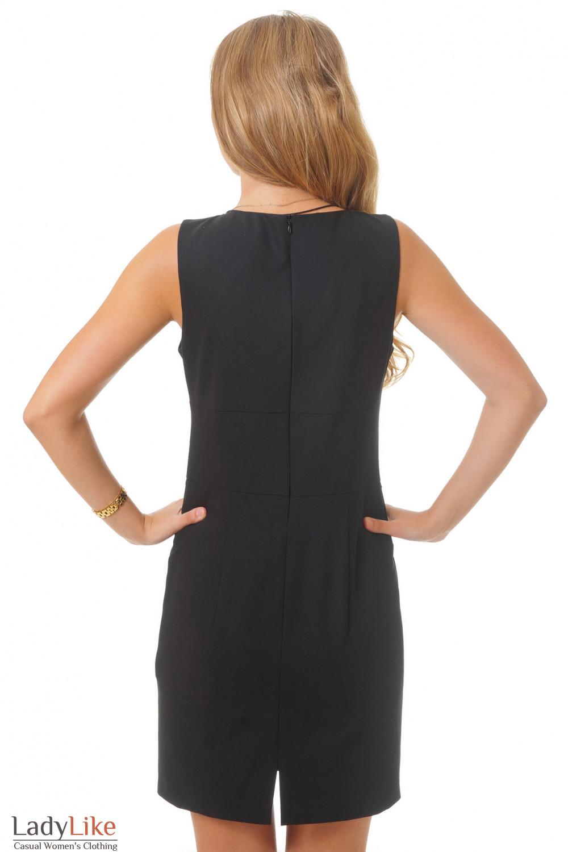 Черное платье вид сзади Деловая женская одежда