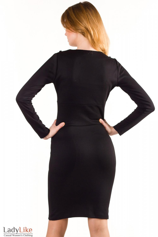 Платье трикотажное Деловая женская одежда