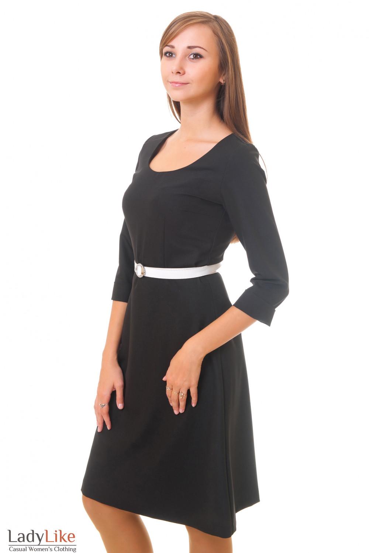 Купить платье с юбкой-трапецией Деловая женская одежда